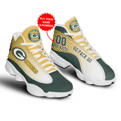 NFL Green Bay Packers Air Jordan 13 Shoes Personalized V7