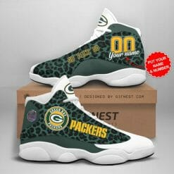 NFL Green Bay Packers Air Jordan 13 Shoes Personalized V5