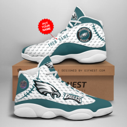 NFL Philadelphia Eagles Air Jordan 13 Shoes Personalized V3