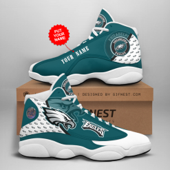 NFL Philadelphia Eagles Air Jordan 13 Shoes Personalized V4