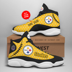 NFL Pittsburgh Steelers Air Jordan 13 Shoes Personalized V3