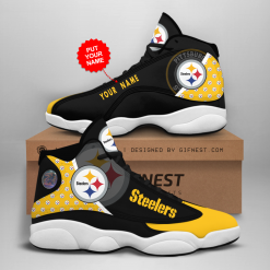 NFL Pittsburgh Steelers Air Jordan 13 Shoes Personalized V1