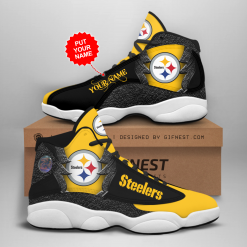 NFL Pittsburgh Steelers Air Jordan 13 Shoes Personalized V4