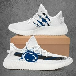 NCAA Penn State Nittany Lions Yeezy Boost White Sneakers V1