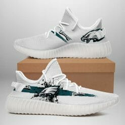 NFL Philadelphia Eagles Yeezy Boost White Sneakers V1