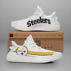 NFL Pittsburgh Steelers Yeezy Boost White Sneakers V1