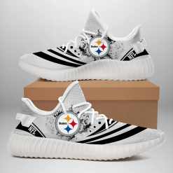 NFL Pittsburgh Steelers Yeezy Boost White Sneakers V2