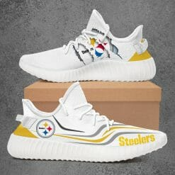 NFL Pittsburgh Steelers Yeezy Boost White Sneakers V3