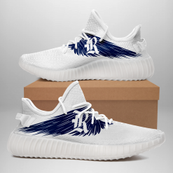 NCAA Rice Owls Yeezy Boost White Sneakers V4