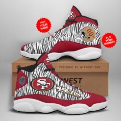 NFL San Francisco 49ers Air Jordan 13 Shoes Personalized V3