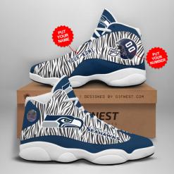 NFL Seattle Seahawks Air Jordan 13 Shoes Personalized V3