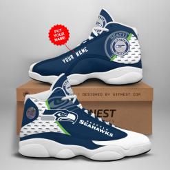 NFL Seattle Seahawks Air Jordan 13 Shoes Personalized V2