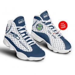 NFL Seattle Seahawks Air Jordan 13 Shoes Personalized V4