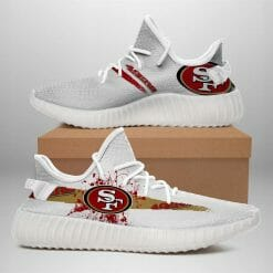 NFL San Francisco 49ers Yeezy Boost White Sneakers V1
