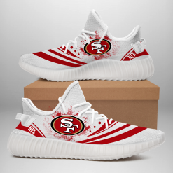 NFL San Francisco 49ers Yeezy Boost White Sneakers V2