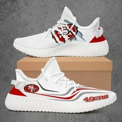 NFL San Francisco 49ers Yeezy Boost White Sneakers V3