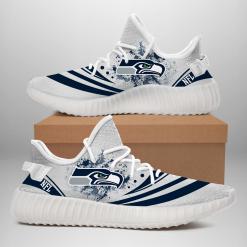 NFL Seattle Seahawks Yeezy Boost White Sneakers V2