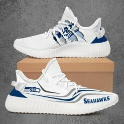 NFL Seattle Seahawks Yeezy Boost White Sneakers V3