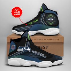 NFL Seattle Seahawks Air Jordan 13 Shoes Personalized V1