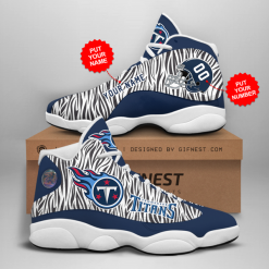 NFL Tennessee Titans Air Jordan 13 Shoes Personalized V2