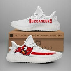 NFL Tampa Bay Buccaneers Yeezy Boost White Sneakers V1