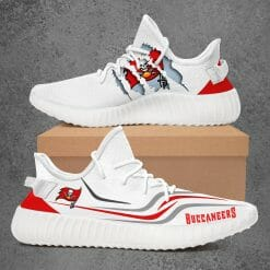 NFL Tampa Bay Buccaneers Yeezy Boost White Sneakers V3