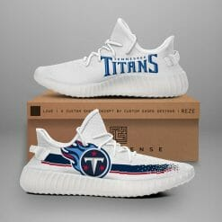NFL Tennessee Titans Yeezy Boost White Sneakers V1