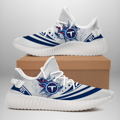 NFL Tennessee Titans Yeezy Boost White Sneakers V2