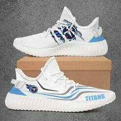 NFL Tennessee Titans Yeezy Boost White Sneakers V3