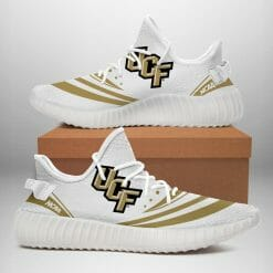 NCAA UCF Knights Yeezy Boost White Sneakers V2