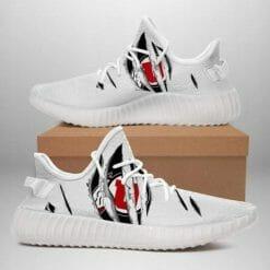 NCAA Utah Utes Yeezy Boost White Sneakers V4