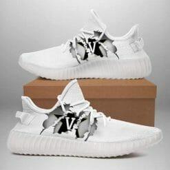 NCAA Vanderbilt Commodores Yeezy Boost White Sneakers V4