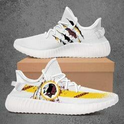 NFL Washington Redskins Yeezy Boost White Sneakers V1
