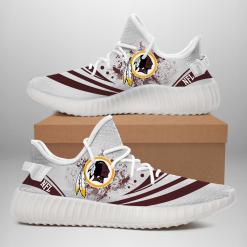 NFL Washington Redskins Yeezy Boost White Sneakers V2