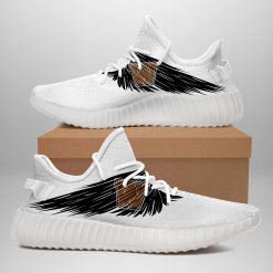 NCAA Western Michigan Broncos Yeezy Boost White Sneakers V4