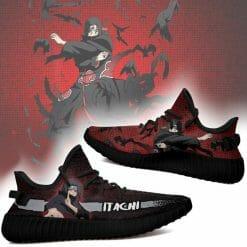 Naruto Anime Itachi Uchiha Yeezy Boost Black Sneakers V1