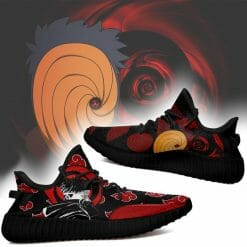 Naruto Anime Itachi Uchiha Yeezy Boost Black Sneakers V4