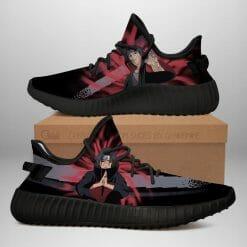 Naruto Anime Itachi Uchiha Yeezy Boost Black Sneakers V2