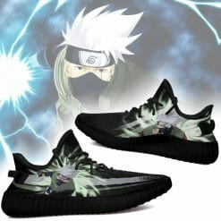 Naruto Anime Kakashi Hatake Yeezy Boost Black Sneakers V2