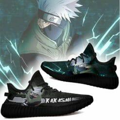Naruto Anime Kakashi Hatake Yeezy Boost Black Sneakers V1