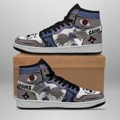 Naruto Anime Sasuke Uchiha Air Jordan 1 Shoes V10