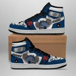 Naruto Anime Sasuke Uchiha Air Jordan 1 Shoes V9