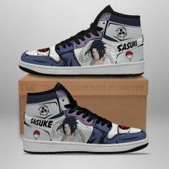 Naruto Anime Sasuke Uchiha Air Jordan 1 Shoes V6