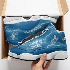 Personalized MLB Los Angeles Dodgers Air Jordan 13 Shoes